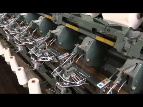 備後撚糸株式会社の和紙糸工程動画(1)