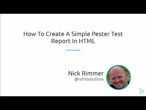 How To Create A Simple Pester Test Report In HTML