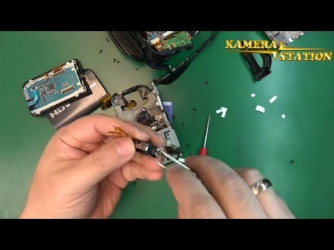 6B07 SONY HDR-HC3E DISPLAY FLEX CABLE REPARATUR ANLEITUNG /  Kamera Handy Station Repair Guide