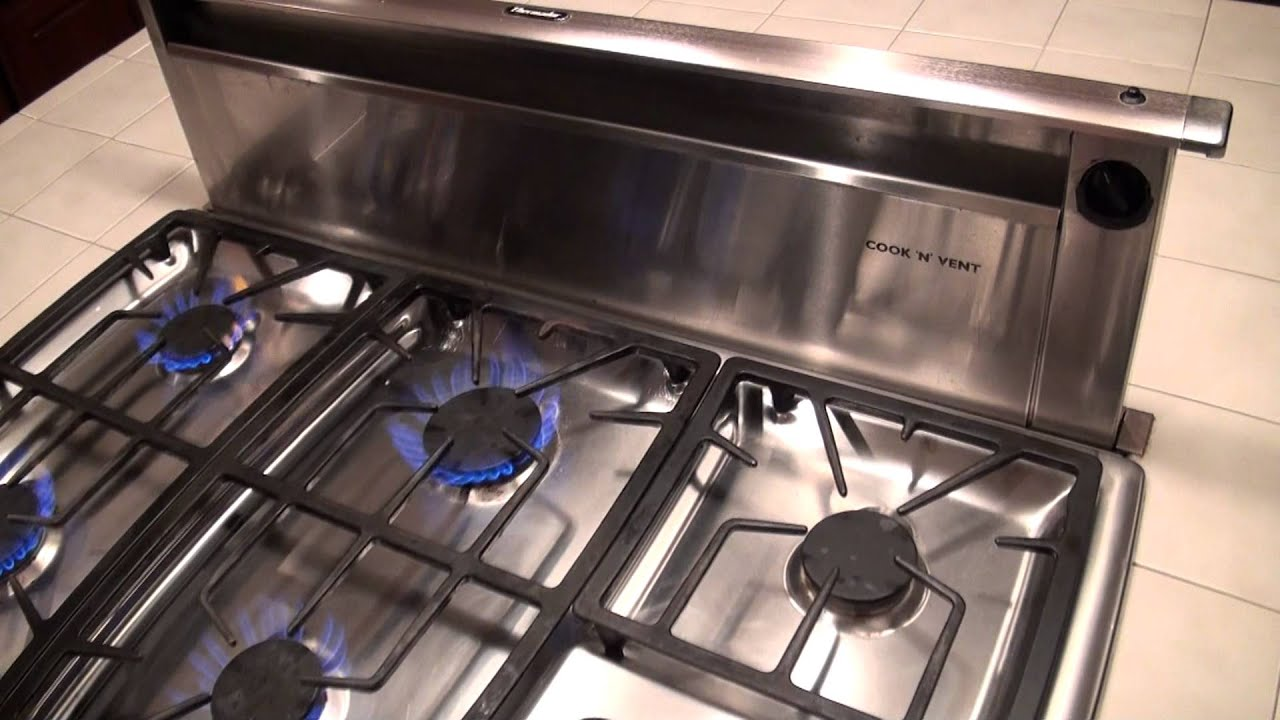 Thermador Gas Cooktop And Downdraft For You. Gas Range Downdraft Ventilation
