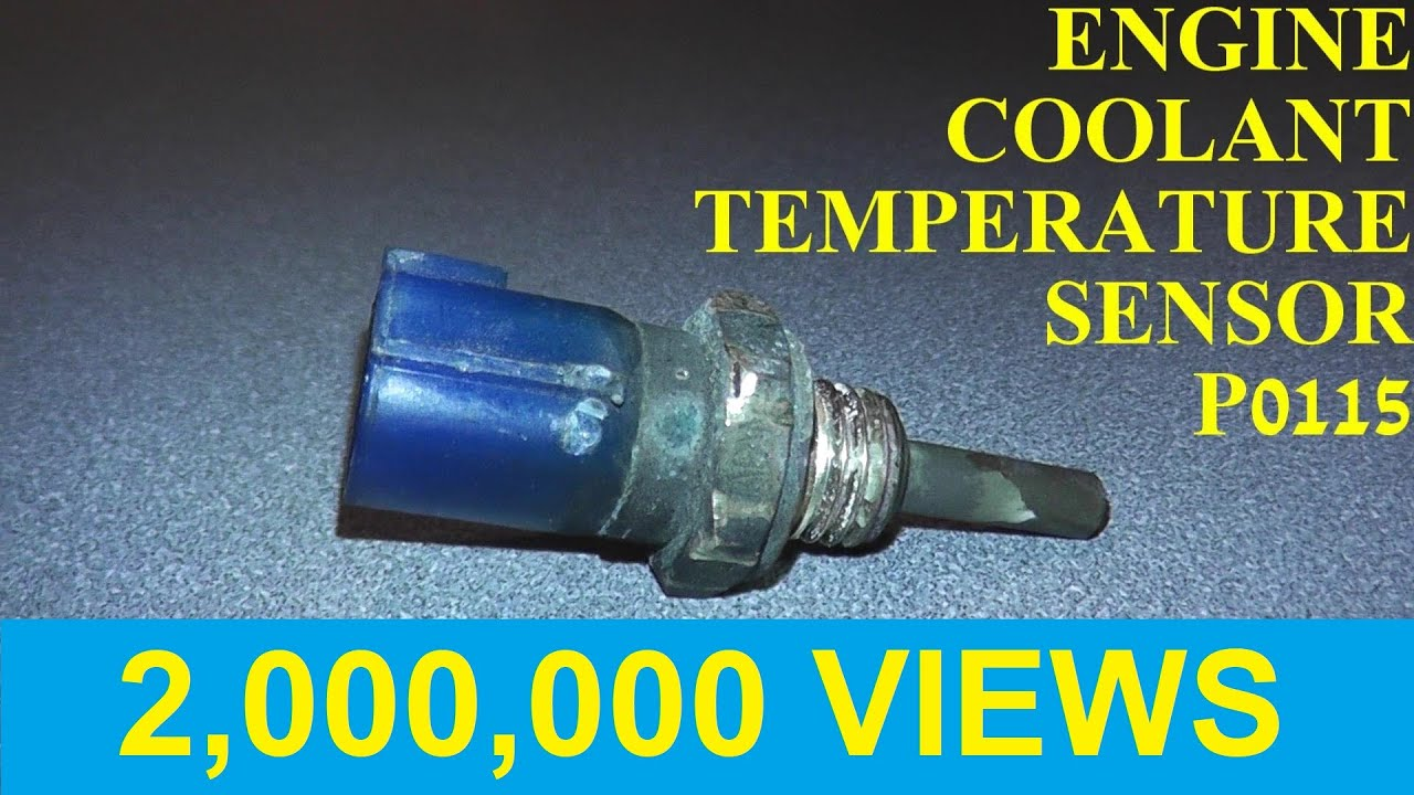How To Test And Replace An Engine Coolant Temperature Sensor P0115. How To Test And Replace An Engine Coolant Temperature Sensor P0115 P0125. Toyota. Toyota Camry Coolant Switch Diagram At Scoala.co