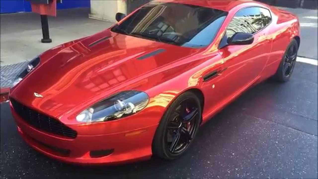 Chrome Red Aston Martin DB9 - YouTube