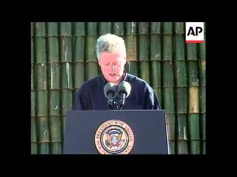 GUAM: US PRESIDENT CLINTON VISIT (V)