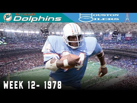 Earl Campbell's Unforgettable Monday Night! (Dolphins vs. Oilers, 1978) | NFL Vault Highlights