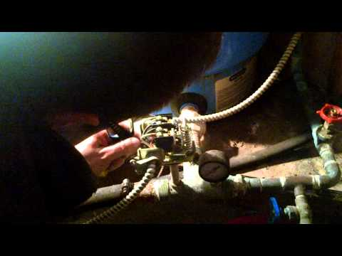 pressure switch 220 volts install - YouTube on