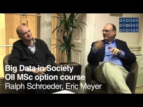 Big Data in Society: OII MSc Option Course
