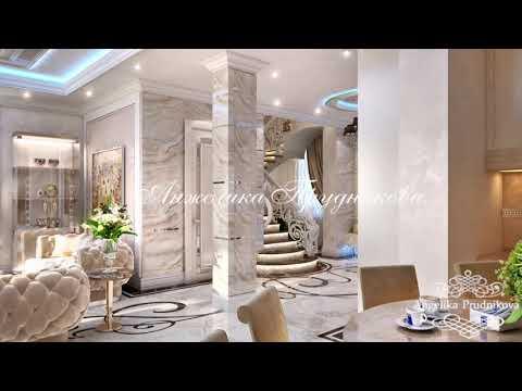 Роскошный интерьер гостиной с камином от Анжелики Прудниковой
