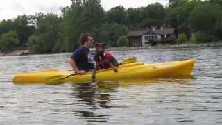 Doberman And Dachshunds Kayaking
