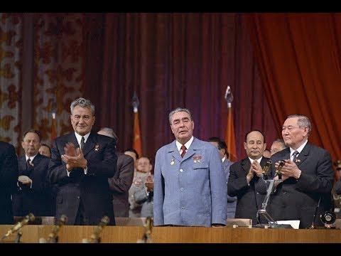 Леонид Ильич Брежнев в Алма-Ате (1974 год)