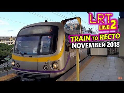 Train to Recto | LRT2 | Manila Light Rail Transit System Line 2