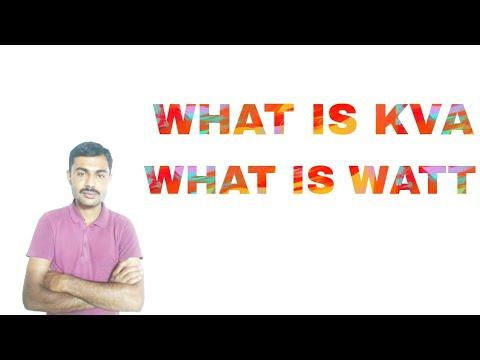 What is kva and watt