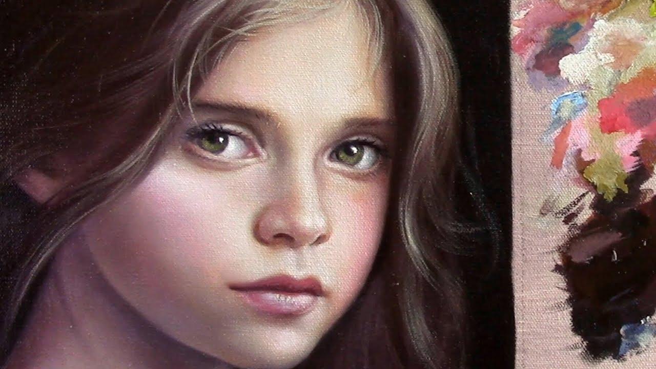 Pintando Retrato Al Oleo Veladuras Youtube