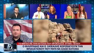Ο Πέτρος Φιλιππίδης και ο Παύλος Χαϊκάλης κοροϊδεύουν την Μπαλατσινού που πήγε να σώσει κατσίκα
