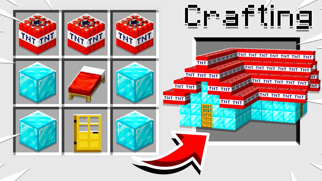 Minecraft, But You Can Craft SECRET HOUSES From BLOCKS!