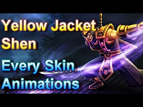 Yellow Jacket Shen - Every Skin Animations - League of ...