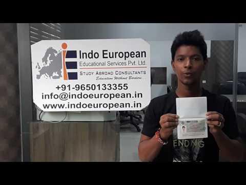 Indo European Student Devyanshu got Visa for Vilnius Gediminas Technical University - Lithuania