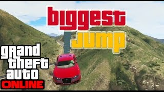 GTA 5 ONLINE || THE HILLS BIGGEST JUMP HD