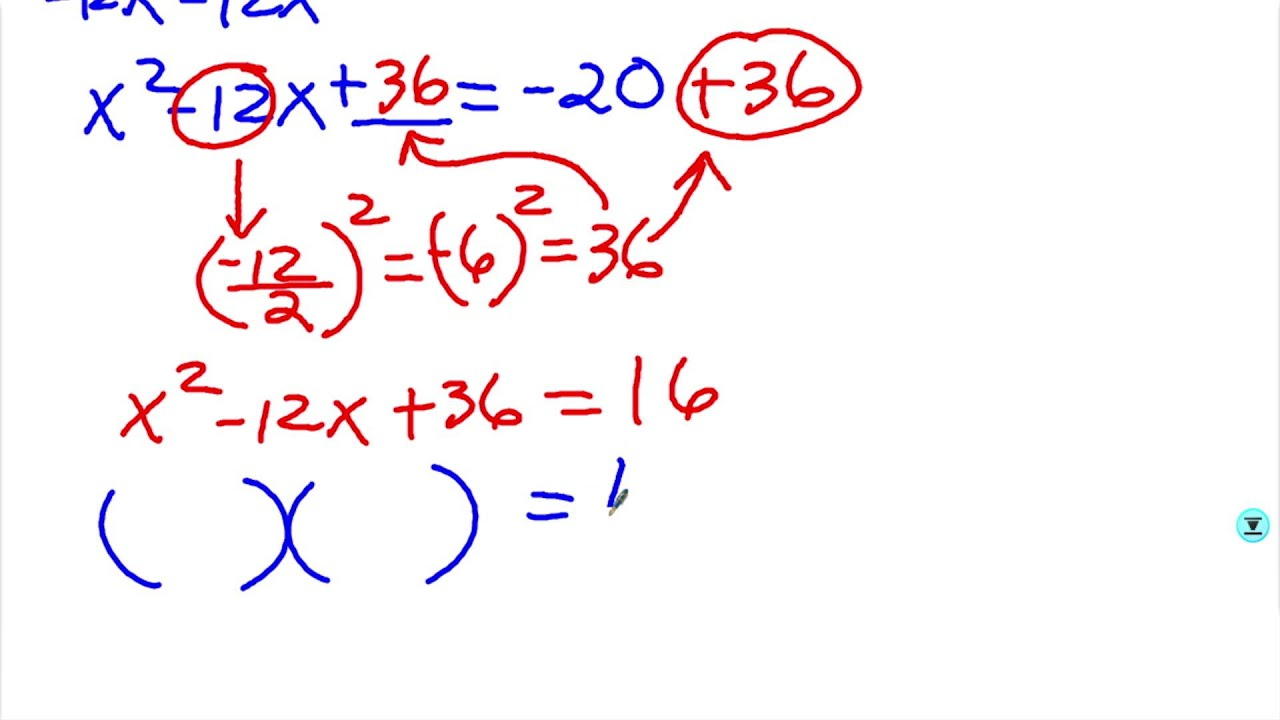worksheet Solve The Quadratic Equation By Completing The Square solve a quadratic equation by completing the square example 1 1