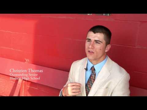 Hudson High's Outstanding Senior Christien Thomas!