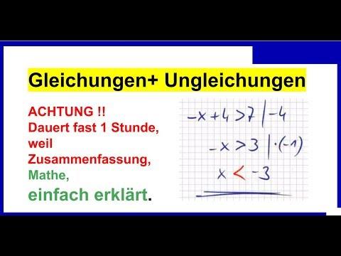 Gleichungen+ Ungleichungen lösen ist einfach, Crashkurs, darum 1 Unterrichtsstunde