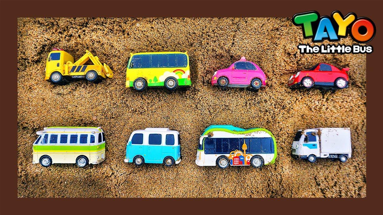 ประหยัดรถโดยสารจากดินถล่ม! l Tayo ยานยนต์ที่แข็งแกร่ง ทีมกู้ภัย l ของเล่น Tayo l Tayo ภาษาไทย