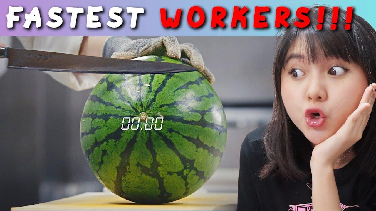ORANG TERCEPAT DALAM MENYELESAIKAN PEKERJAAN - FASTEST WORKER REACTION