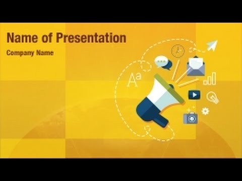 digital marketing powerpoint video template backgrounds, Presentation templates