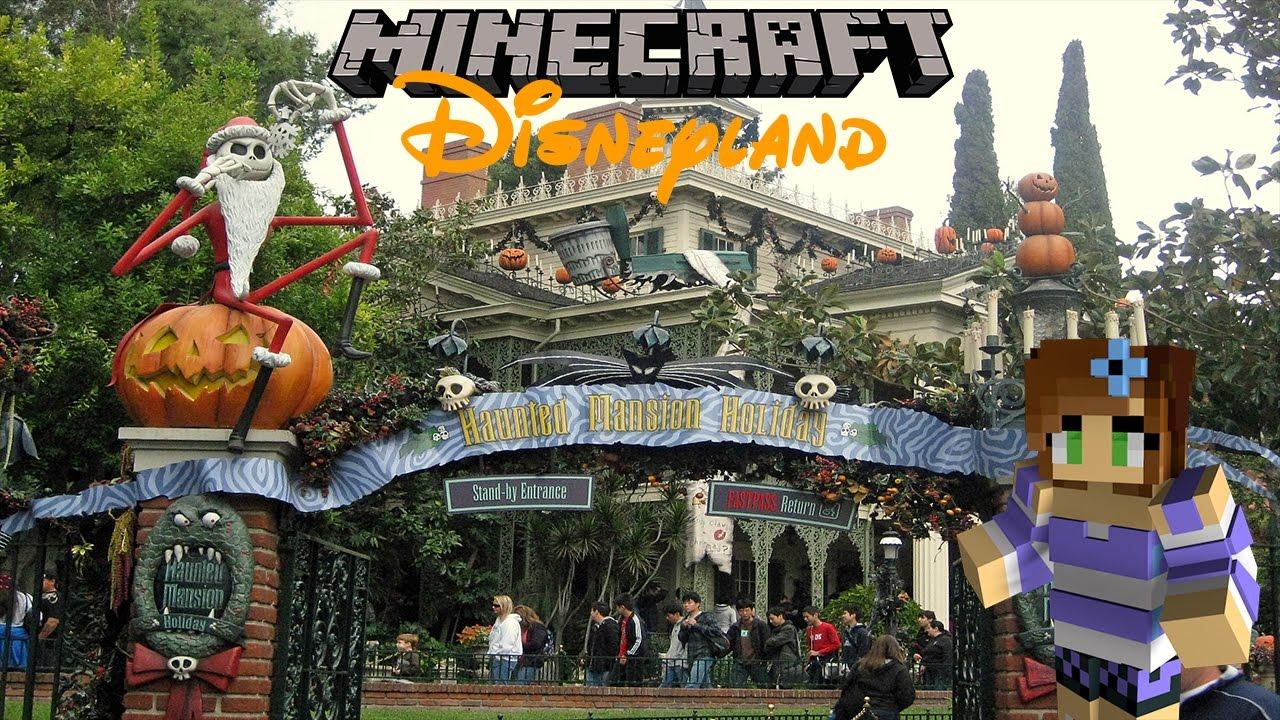 Haunted Mansion Holiday Foyer Music : Minecraft disneyland haunted mansion holiday youtube