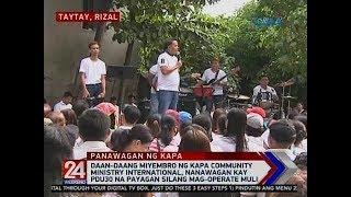 24 Oras: Daan-daang miyembro ng Kapa Community Ministry International, nanawagan...