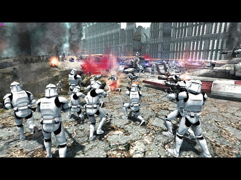 АРМИЯ КЛОНОВ ШТУРМУЕТ ПОЗИЦИИ КРОВАВЫХ АНГЕЛОВ! Star Wars  Vs Warhammer