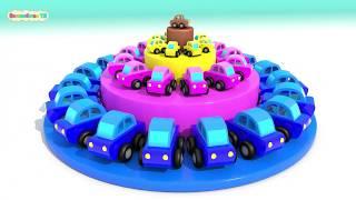 УЧИМ ЦВЕТА - Торт с Машинками | Мультики Для Малышей Про Машинки | #ВолшебствоТВ