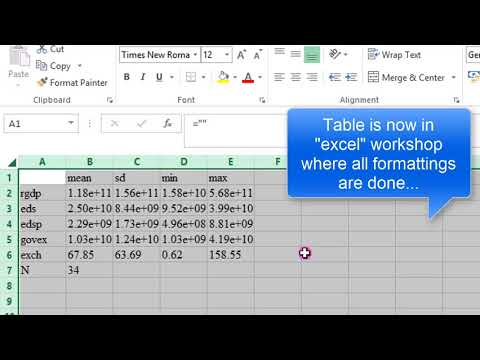 (Stata13):Export Summary Statistics Output to Excel, Word