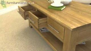 Rivermead Solid Oak 6 Drawer Coffee Table From Oak Furniture Land