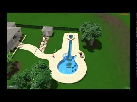 "Pool Design By Cascade Custom Pools ""The Guitar Pool"""