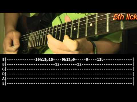 The Struggle Within Guitar Solo Lesson  Metallica with tabs