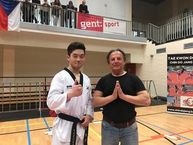 Korea taekwondo team filmed by GM Walter Toch 18 Mai 2019 Belgium