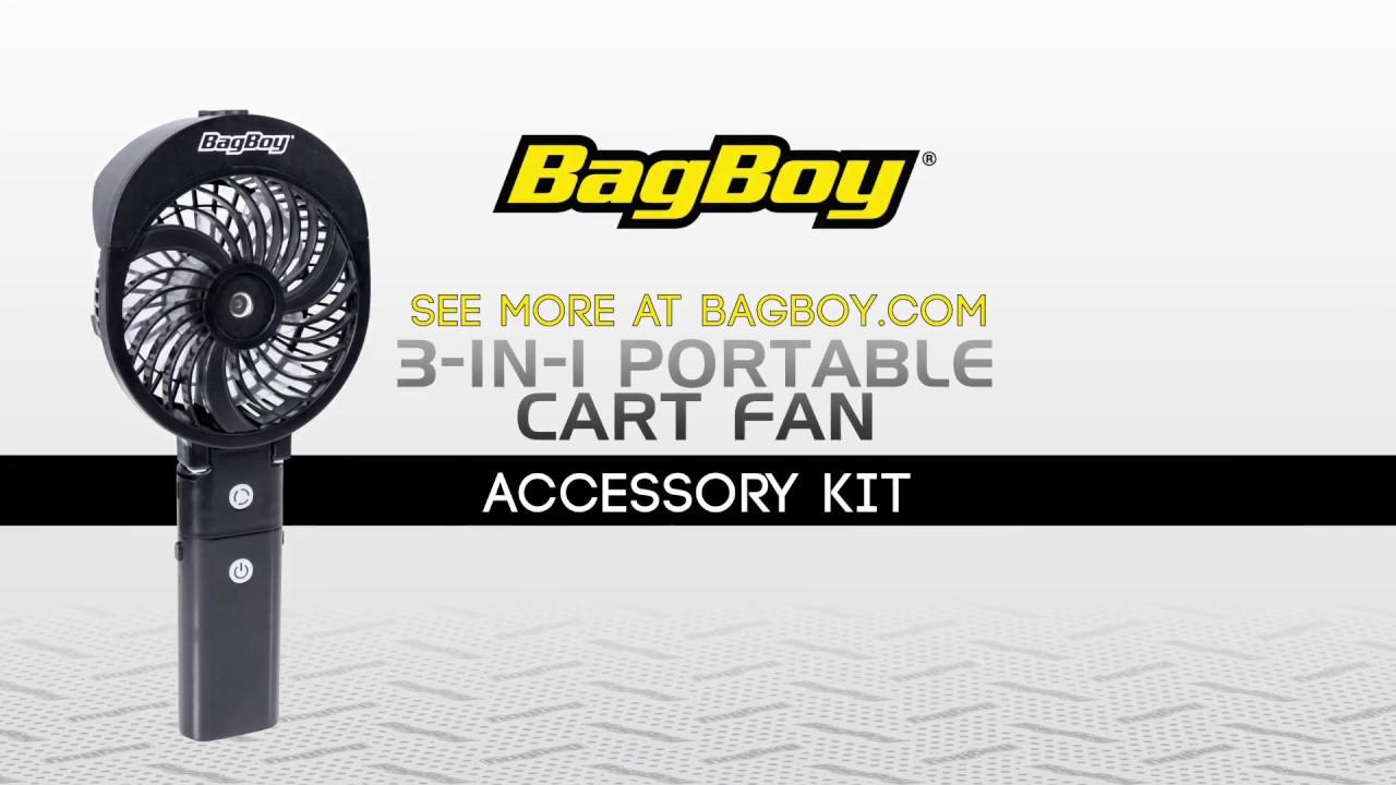 Bag Boy 3-in-1 Portable Cart Fan Kit