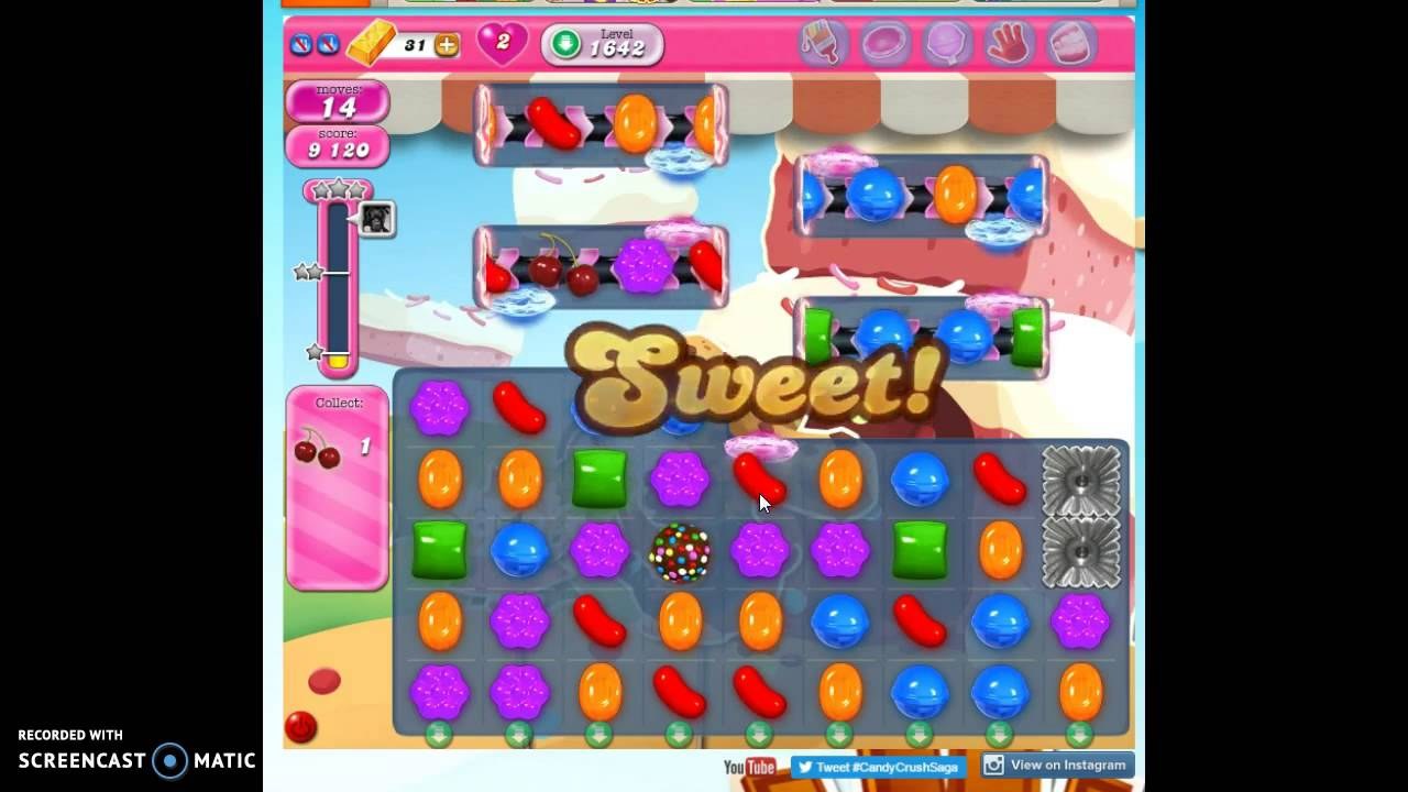 how to get past level 1617 on candy crush