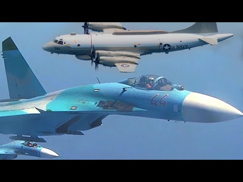 Russian jet fighter intimidates American aircraft incident 1/29/2018