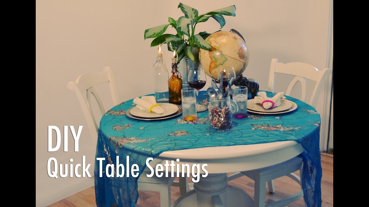 & DIY Quick and Easy Table Settings with Mr. Kate - YouTube