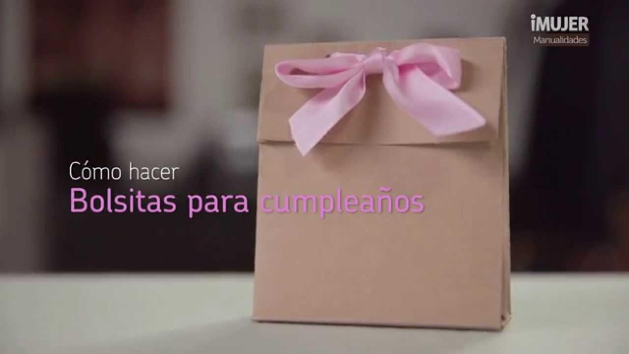 Bolsitas para cumpleaños Decoración para fiestas @iMujerHogar YouTube