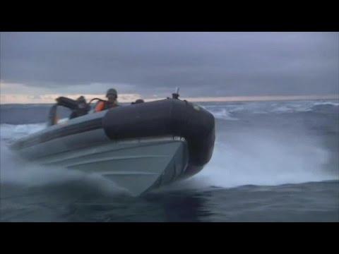 Greenpeace boats rammed by Spanish Navy