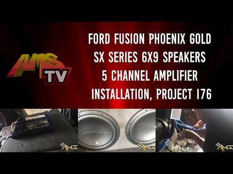Project 176 Chris Ford Fusion Phoenix Gold SX Series 6x9 Speakers 5 Channel Amplifier Installation