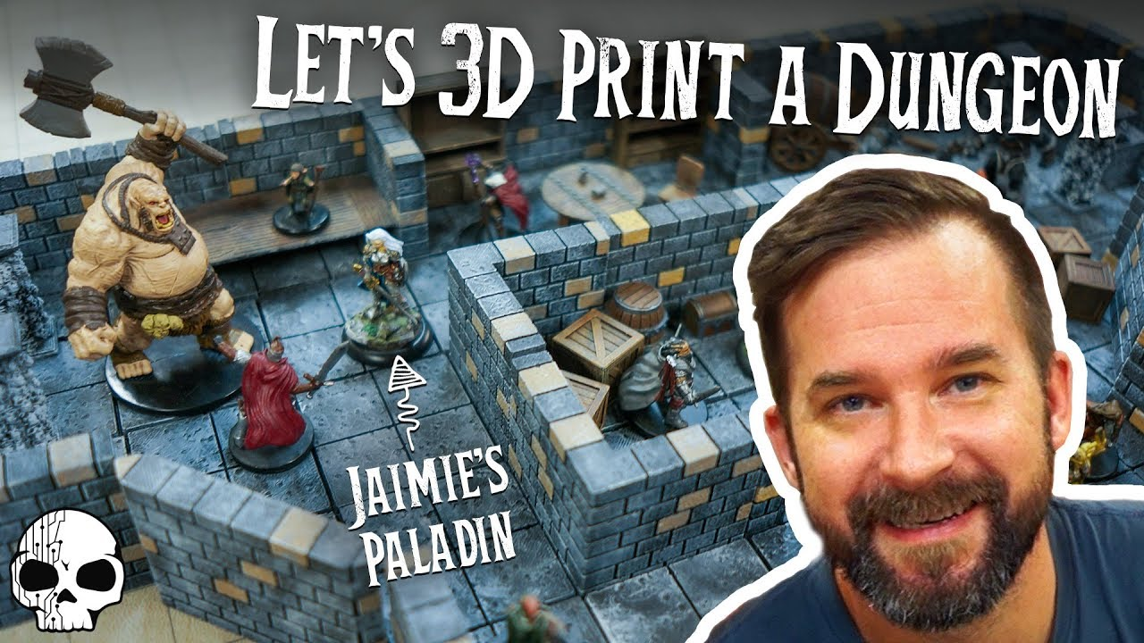3D Printing Our Own Dungeons for DnD (We love this so much!)