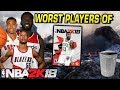 Worst Basketball Players in NBA 2K18