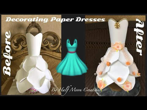 Paper Dress Decoration - Large White Dress