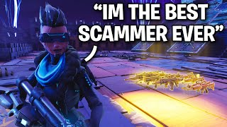 "This kid is the ""TFUE"" of Scamming!! 😱😕 (Scammer Get Scammed) Fortnite Save The World"