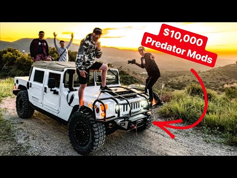 BUYING $10,000 IN HUMMER H1 MILITARY GRADE MODIFICATIONS!