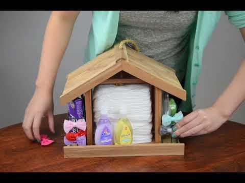 DIY Bird Feeder Baby Shower Gift