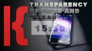KWGT Tutorial:  Transparency Options and
